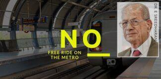 Sreedharan writes to the PM, urges not to allow free travel on the Metro