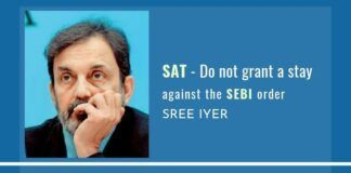 The SEBI Appellate Tribunal should not grant a stay against the SEBI order on NDTV as it has ruled the Roys as not fit and proper to hold office