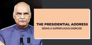 The Presidential address seems a superfluous exercise