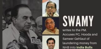 One more huge scam involving India Bulls by Congress unearthed by Subramanian Swamy