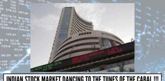 Indian Stock Market dancing to the tunes of the Cabal!!!