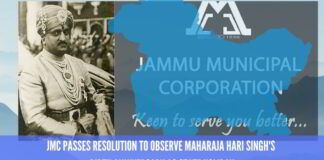 Jammu Municipal Corporation passes resolution to observe Maharaja Hari Singh's birth anniversary as state holiday