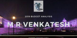 M R Venkatest, Budget 2019