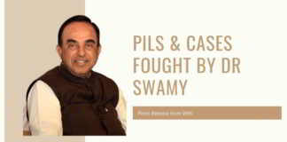 PILs & cases fought by Dr Swamy