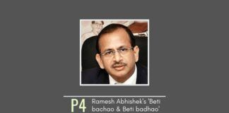 Ramesh Abhishek Agrawal's own Corruption Model in Startup India via 'Beti bachao & Beti badhao'