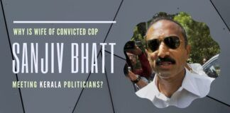 Why are Kerala politicians interested in raising funds for the legal case of convicted officer Sanjiv Bhatt?