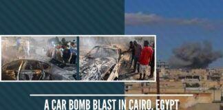 A car Bomb blast in Cairo, Egypt