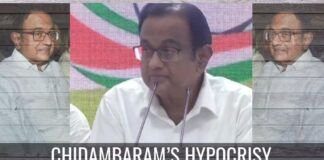 Chidambaram's hypocrisy
