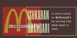 The policy of McDonald's to only serve Halal Meat in India has raised the shackles of many in India