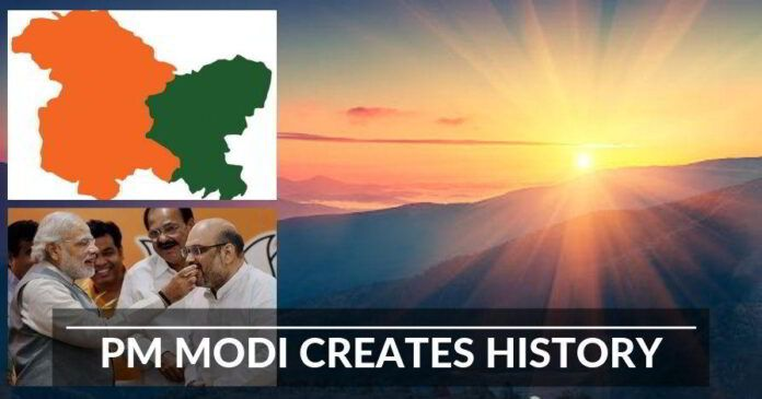 PM Modi creates history, Articles 35A and 370 gone