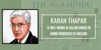 Karan Thapar would do well to visit Jammu to meet them around 1.5 million Hindu-Sikh refugees from PoJK, Pakistan and Kashmir itself and present to the nation a true story of facts.