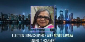 Will the ITR findings on Novel Lavasa lead up to the door of her husband, Election Commissioner Ashok Lavasa?