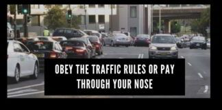 Obey the traffic rules or pay through your nose