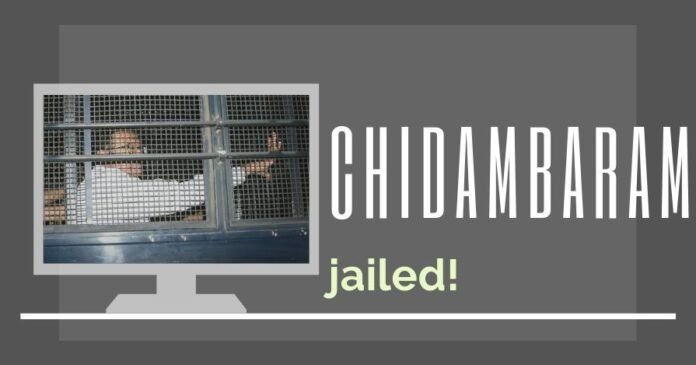 Chidambaram counting the bars in Tihar jail in connection with the INX Media scam