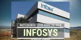 A Whistleblowers' letter to Indian and US authorities accuses the Infosys CEO and CFO of fudging the numbers to shore up stock price