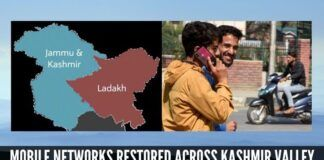 Post Paid Mobile phone services restored across all networks in Kashmir valley