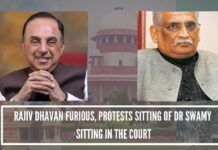 yodhya case hearing -Rajiv Dhavan furious, protests sitting of Rajyasabha MP Subramanian Swamy in front row of court room