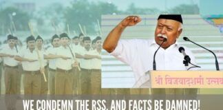 We condemn the RSS, and facts be damned!