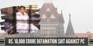 Rs 10,000 crore defamation suit against PC