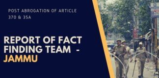Report of Fact finding team on Jammu post abrogation of Article 370 & 35A
