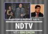 NDTV about to close operations because of unpaid taxes? Auditor's Report seems to suggest so