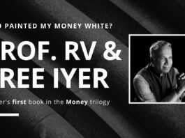 """Sree Iyer says, """"Do the math. Each container that carried counterfeit currency with 500- and 1000-rupee notes was worth 5000 crores. How many actually arrived? Was this the reason new notes had a different dimension? How was this money used?"""""""