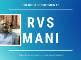 In Continuation of Police Reforms, RVS Mani highlights the high stakes involved in some of the appointments & how this nexus is the root problem of the corruption, nepotism & favoritism.