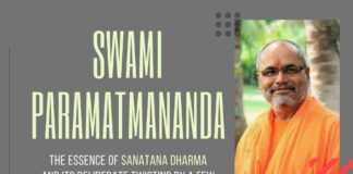 In this engrossing discussion, Swami Paramatmananda discusses the real meaning of Sanatana Dharma and what it stands for. Also discussed are the intolerance of some groups who wish to paint this Eternal Flow in a bad light and those who swallow their spiel hook, line and sinker. A must watch for politicians!