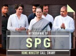 Swamy retorts that Sonia and family are safe based on the fact that their threat from LTTE is no longer there