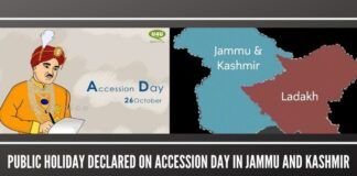 Public holiday declared on Accession day in Jammu and Kashmir