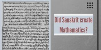 The west is now coming round to the view that those who created Sanskrit also created mathematics.