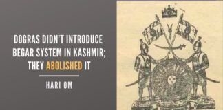 Dogras didn't Introduce Begar System In Kashmir; they abolished It