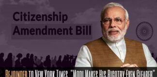 """Rejoinder to New York Times opinion article """"Modi Makes His Bigotry Even Clearer"""""""
