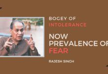Nobody had then explained how an 'intolerant' Modi government was tolerating the venom being spewed on it.