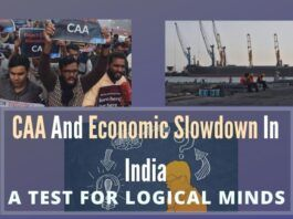 The two topics quite buzz dominating writings these days in media are CAA And Economic Slowdown in India, which indeed test for Logical Minds.