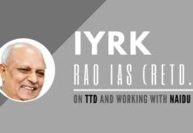 IYRK Rao, CEO TTD (2009-11) and Chief Secretary of AP (2014-16), recalls his contributions to the TTD as the CEO and the sudden easing out of L V Subrahmanyam as the Chief Secy by Reddy. A must watch!