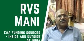 RVS Mani describes the various ways in which funding is being made available to the various protests happening all over the country. Zakir Naik appears to have disposed of his property in India using Cryptocurrency, which opens a new angle of funding. A must watch!