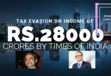Whistleblower letter to various investigating agencies accuses the Times of India Group of tax evasion on Rs.28,000 crores