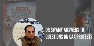 Dr Swamy answers to questions of general public on CAA protests in Shaheen Bagh