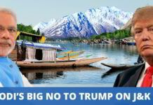 Modi's big No to Trump on J&K