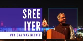 Sree Iyer spoke about why the Indian Government had to enact the CAA Bill at the fundraiser event of The Foundation for India and Indian Diaspora Studies (FIIDS). This talk summarizes the CAA as well as the fake Anti-CAA protests, which have been hijacked by the minority community and why.