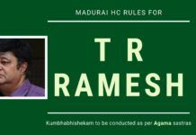 T R Ramesh on how he ensured that Brihadeeswara Temple Kumbhabhishekam was done as per the Agama Sastras by getting High Court to dismiss a mischievous petition