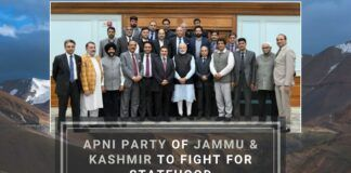 JKAP's delegation leaders would collectively raise the demands of restoration of Statehood, protection of land rights and jobs and the redressal of the problems related to tourism, horticulture, agriculture, and other sectors.