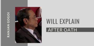 Gogoi tells an Assam channel that he will explain his decision after taking the oath