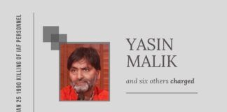 30 years on, a TADA Special Court frames charges against Yasin Malik and six others in the killing of 6 IAF personnel