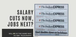 While advocating everyone to keep people employed at full salary, Indian Express does the exact opposite to its own!