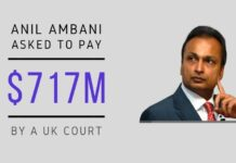 Jumbo-sized loans from Chinese Banks taken by Anil Ambani come to roost as a London High Court asks him to pay $717 million