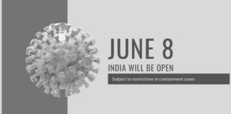 Except for International travel, Metro rail, most of India will be open from June 8, says a release from the MHA