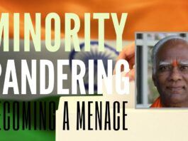 Greed, lack of leadership and selfishness have driven Indian politicians to pander to extreme lengths the demands of some minorities, says Prakasarao Velagapudi in this wake-up call video. Some of the consequences of this are explained too.