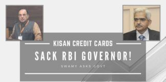 "Controversial RBI Governor Shaktikanta Das in a soup again for issuing a ""fatwa"" to collect the principal as well as interest for renewing Kisan Credit Cards"
